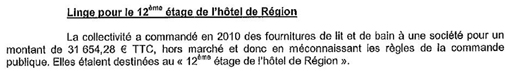 Extrait du rapport de la chambre rgionale des comptes d'avril 2013 sur la gestion de la rgion Languedoc-Roussillon