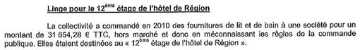 Extrait du rapport de la chambre régionale des comptes d'avril 2013 sur la gestion de la région Languedoc-Roussillon