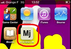Icône Mj sur l'écran d'accueil de votre iPhone