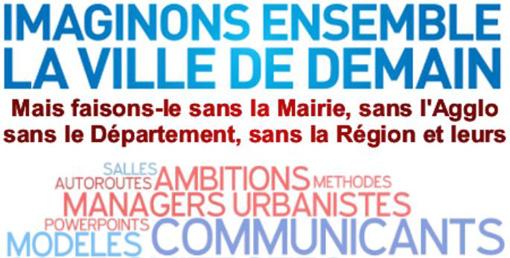 Extrait de l'affiche où le collectif Montpellier 4020 invite les citoyens à son atelier citoyen du 27 juin 2013