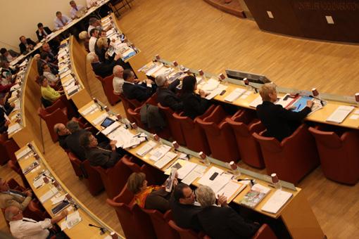 En conseil d'agglomération de Montpellier le 25 mai 2013 (photo : J.-O. T.)