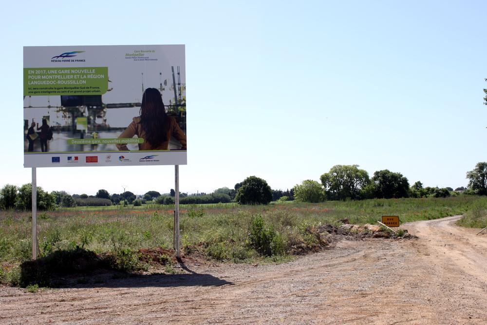 Sur le site du projet de nouvelle gare de Montpellier le 6 mai 2013 (photo : J.-O. T.)