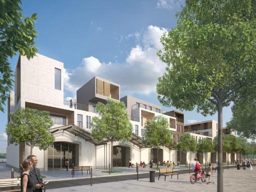 Reconversion des anciens ateliers de l'EAI à Montpellier (photo : dossier de presse de la ville)