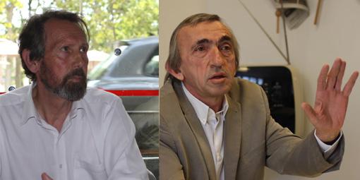 Roger Moncharmont et Michel Passet (photo et montage : J.-O. T.)