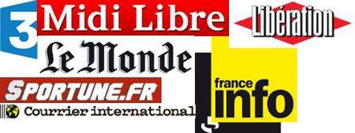 Logos des médias cités dans la revue de presse de Montpellier journal de juillet-août 2013