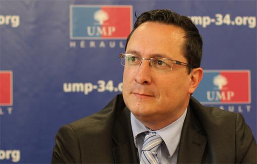 Arnaud Julien, le président départemental de l'UMP, le 24 avril 2013 (photo : J.-O. T.)