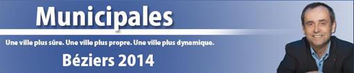 Bannière du site de campagne de Robert Ménard pour les municipales 2014 à Béziers (copie d'écran)