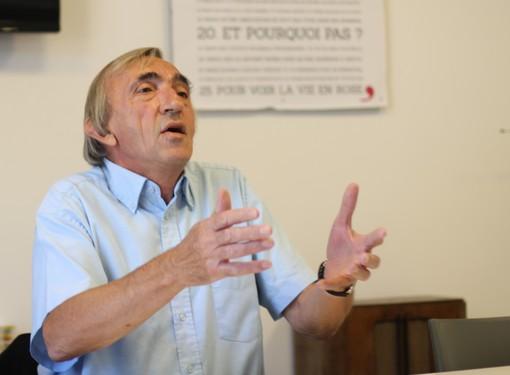 Michel Passet, secrétaire de la fédération de l'Hérault du PCF, le 10 septembre 2013 (photo : J.-O. T.)