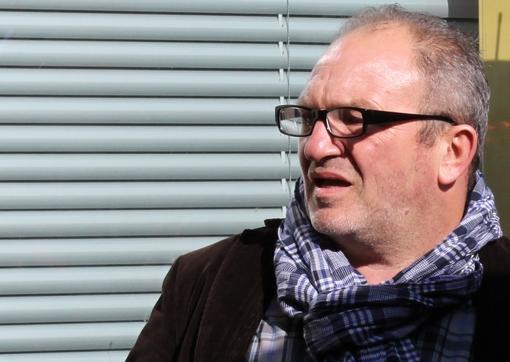 Pascal Provencel, patron du groupe Lisalou (Sens inédit, Spider corp, Toscane prof) le 27 février 2013 lors de l'annonce de la candidature de Jean-Pierre Moure aux municipales de Montpellier (photo : J.-O. T.)
