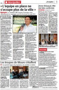 Page 3 de Midi Libre du 7 novembre 2013 sur Jacques Domergue (UMP)