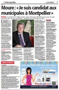 Page 3 de Midi Libre du 27 février 2013 sur Jean-Pierre Moure (PS)