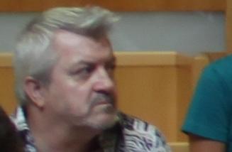 Le journaliste Jean-Marc Aubert le 20 septembre 2013 (photo floue : J.-O. T.)