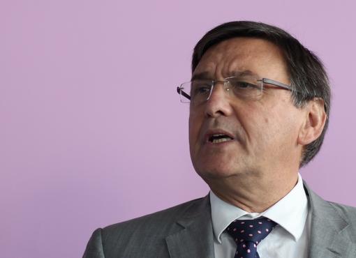 Jacques Domergue, candidat UMP à la maire de Montpellier le 7 novembre 2013 (photo : J.-O. T.)