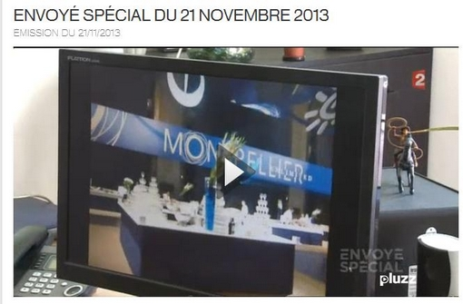 Montpellier journal était à Envoyé spécial sur France 2 le 21 novembre 2013 (copie d'écran du site de France 2)