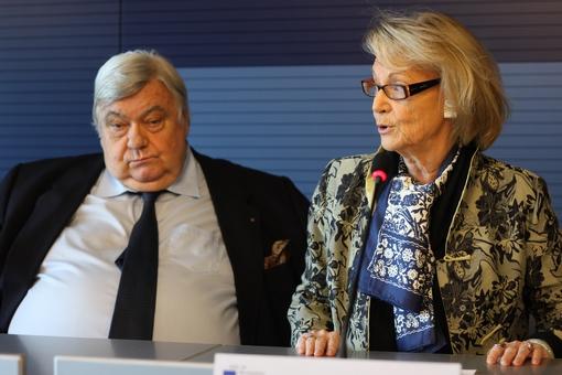Louis Nicollin et Hélène Mandroux, maire de Montpellier le 13 décembre 2011 (photo : J.-O. T.)