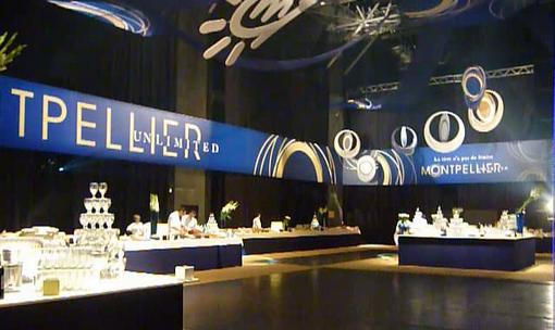 Cocktail lors du lancement de la marque économique de l'agglomération, Montpellier unlimited, le 17 octobre 2012 (photo : J.-O. T.)