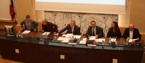 En conseil d'agglomération de Montpellier (photo archives J.-O. T.)