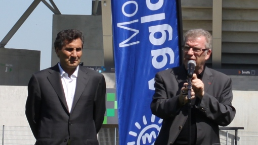 Mohed Altrad et Jean-Pierre Moure le 17 avril 2013 (photo : J.-O. T.)