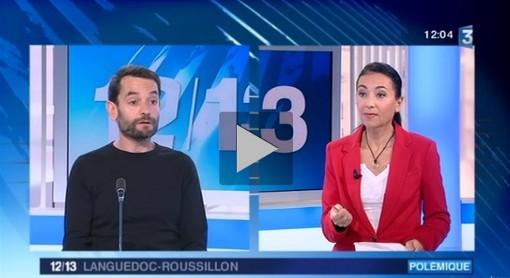 Montpellier journal invité du 12/13 de France 3 Languedoc-Roussilon le 11 février 2014 (copie d'écran de la vidéo)