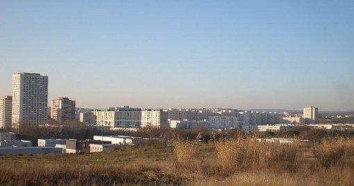 Le quartier de La Paillade en janvier 2009 (photo : Vpe, licence CC)