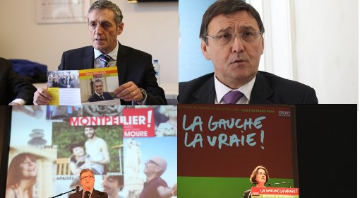 Philippe Saurel, Jacques Domergue, Jean-Pierre Moure et Muriel Ressiguier (photos et montage : J.-O. T.)