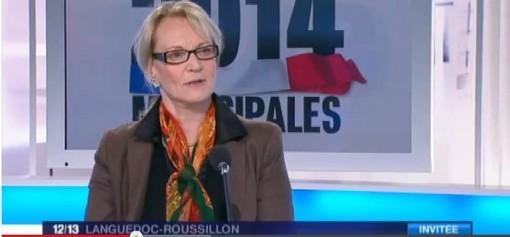 Hélène Mandroux annonce, sur France 3, son soutien à Philippe Saurel pour le second tour des municipales de Montpellier (copie d'écran)