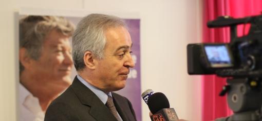 Joseph Francis le 29 janvier 2014 en campagne pour les élections municipales à Montpellier sous la banière de l'UDI (photo : J.-O. T.)