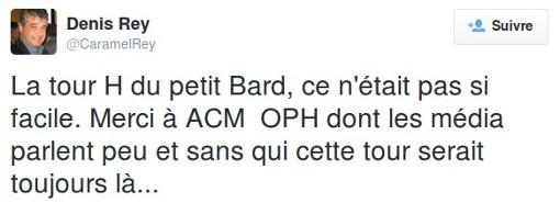 Denis Rey, compagnon de Claudine Frêche, défend ACM sur Twitter (copie d'écran)