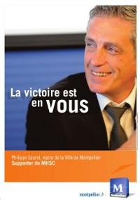 Publicité avec (pour ?) Philippe Saurel en quatrième de couverture dans Midi Libre du 11 avril 2014