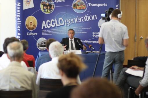 Philippe Saurel, maire et président de l'agglomération de Montpellier, le 3 juin 2014 (photo : J.O. T.)