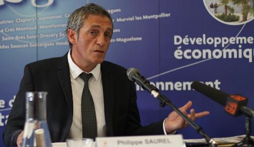 Philippe Saurel, président de l'agglomération de Montpellier, le 3 juin 2014 (photo : J.-O. T.)