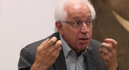 André Vezinhet, président du conseil général de l'Hérault, le 26 juin 2014 (photo : J.-O. T.)