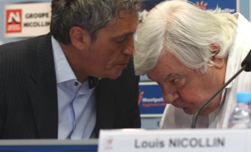 Philippe Saurel et Louis Nicollin le 19 juin 2014 (photo : J.-O. T.)