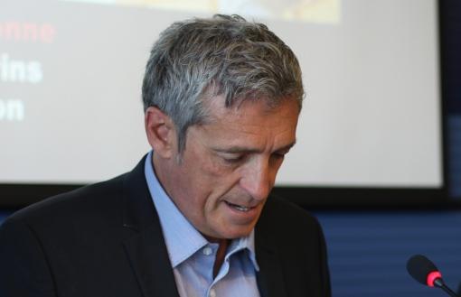 Philippe Saurel, maire de Montpellier, le 1er juillet 2014 (photo : J.-O. T.)