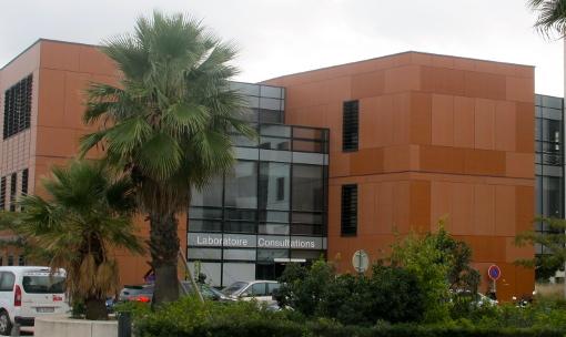La clinique du Millénaire (groupe Oc santé) à Montpellier le 20 novembre 2014 (photo : Lucie Lecherbonnier)