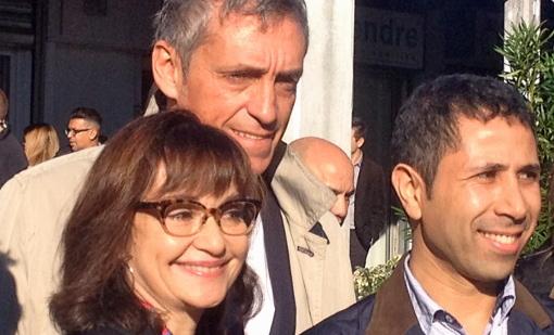 Chantal Lévy-Rameau, Philippe Saurel et Abdi El Kandoussi le 6 novembre 2014 (photo : Lucie Lecherbonnier)