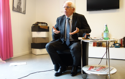 André Vezinhet, le président du conseil général de l'Hérault le 3 novembre 2014 (photo : J.-O. T.)