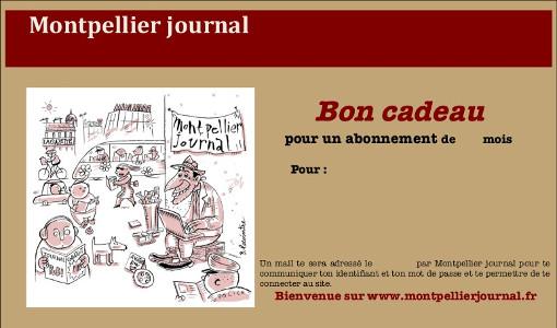 Échantillon du bon d'abonnement cadeau à Montpellier journal