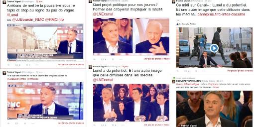 Extraits du fil Twitter du député (PS) de l'Hérault, Patrick Vignal, le 28 janvier 2015 (copies d'écran)