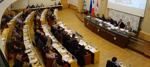 Conseil de la métropole de Montpellier le 5 février 2015 (photo : J.-O. T.)