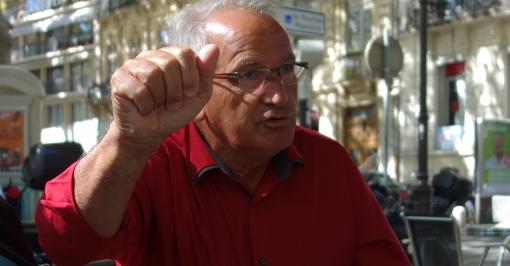 René Revol, maire Parti de gauche de Grabels, le 3 septembre 2014 (photo : J.-O. T.)