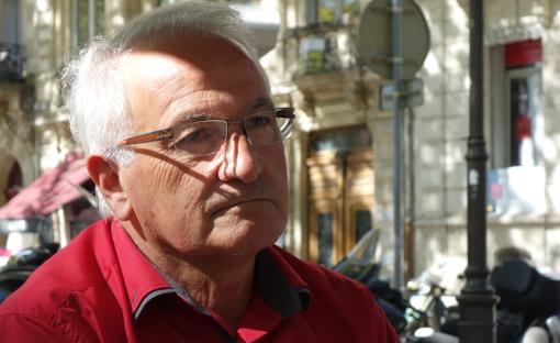 René Revol, maire (PG) de Grabels et vice-président de la métropole de Montpellier le 3 septembre 2014 (photo : J.-O. T.)