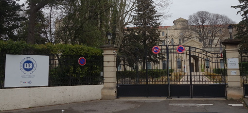 L'entrée de l'internat d'excellence de Montpellier le 17 mars 2015 (photo : J.-O. T.)