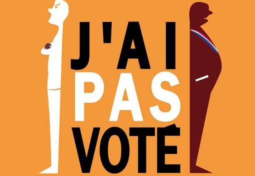 """Extrait de l'affiche du film """"J'ai pas voté"""" de Moise Courilleau et Morgan Zahnd"""
