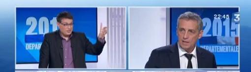 Stéphane Ratinaud et Philippe Saurel sur France 3 Languedoc-Roussillon le 29 mars 2015 (copie d'écran)