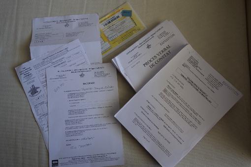L'ensemble des papiers liés à la citation de René Revol devant le TGI de Montpellier