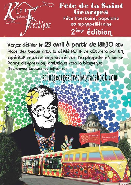Affiche de la Saint-Georges Frêche 2015