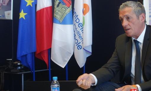 Philippe Saurel, maire et président de la métropole de Montpellier, le 13 avril 2015 (photo : J.-O. T.)