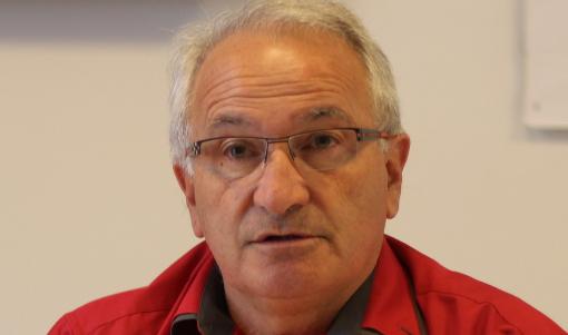 René Revol, maire (Parti de gauche) de Grabels le 7 octobre 2013 (photo : J.-O. T.)