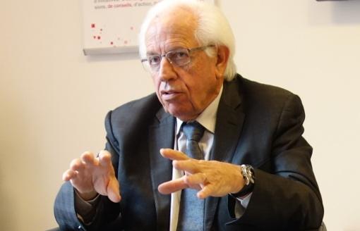 André Vézinhet, l'ancien président (PS) du conseil général de l'Hérault le 3 novembre 2014 (photo : J.-O. T.)